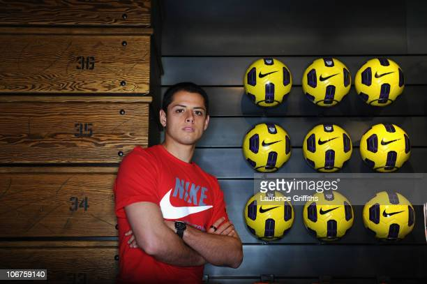Javier Hernandez attends the opening of Nike�s first football only store in the world � the new Nike store on Manchester�s Market Street The Nike...