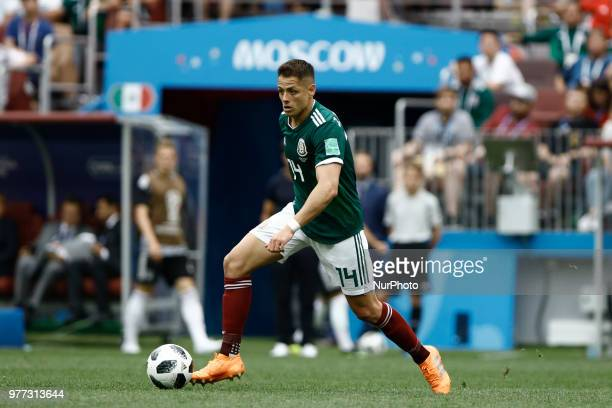 Javier Hernandez during the 2018 FIFA World Cup Russia group F match between Germany and Mexico at Luzhniki Stadium on June 17 2018 in Moscow Russia