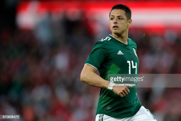 Javier Hernandez of Mexico during the International Friendly match between Denmark v Mexico at the Brondby Stadium on June 9 2018 in Copenhagen...