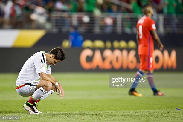 Javier Hernandez of Mexico looks dejected during a Quarterfinal match between Mexico and Chile at Levi's Stadium as part of Copa America Centenario...