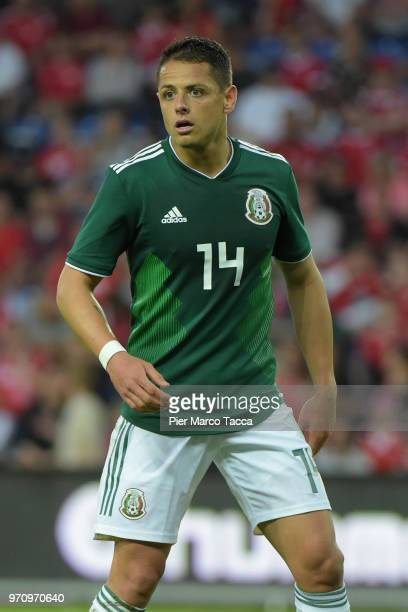 Javier Hernandez of Mexico looks on during International Friendly match between Denmark v Mexico at Brondby Stadion on June 9 2018 in Brondby Denmark
