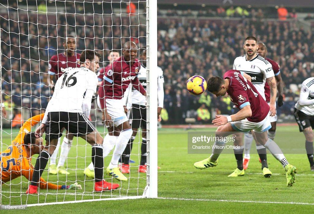 West Ham United v Fulham FC - Premier League : Nachrichtenfoto
