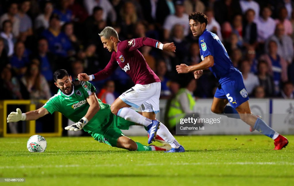 AFC Wimbledon v West Ham United - Carabao Cup Second Round : News Photo
