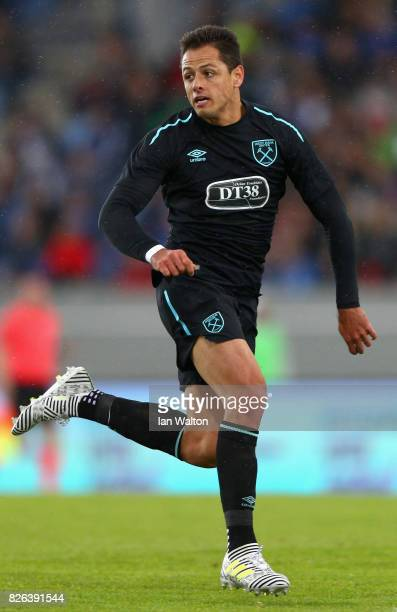 Javier Hernandez of West Ham United in action during a Pre Season Friendly between Manchester City and West Ham United at the Laugardalsvollur...