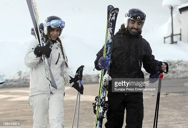 Javier Hidalgo and girlfriend are seen at Baqueira Beret Resort Ski on December 6 2012 in Baqueira Beret Spain