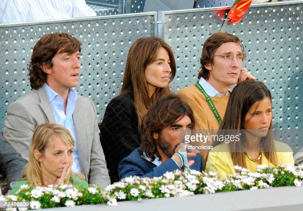Javier Hidalgo and her girlfriend Nicolas Vallejo Najera Monica Martin Luque and Fernando Gomez Acebo attend Madrid Open tennis tournament at La Caja...