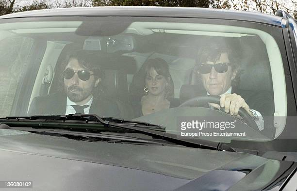 Javier Hidalgo and Nicolas VallejoNajera attend the Wedding of Jose Maria Aznar Jr and Monica Abascal at El campillo plot of land on December 17 2011...