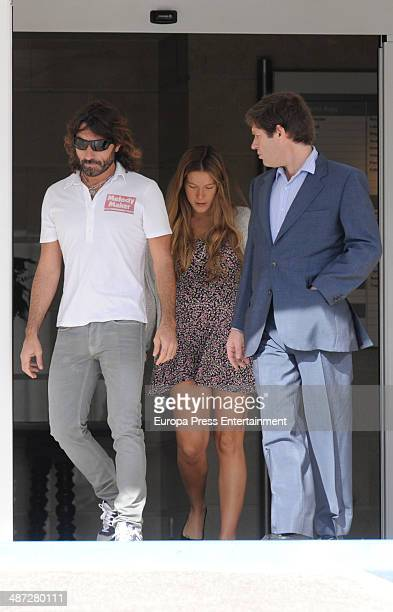 Javier Hidalgo and Sol Gonzalez are seen on April 14 2014 in Madrid Spain