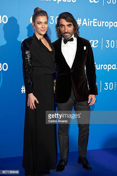 Javier Hidalgo and Sol Gonzalez attend 'Air Europa' 30th anniversary at the Palafox cinema on December 2 2016 in Madrid Spain