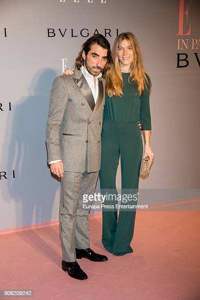Javier Hidalgo and Sol Gonzalez attend Eugenia Silva's birthday on January 21 2016 in Madrid Spain