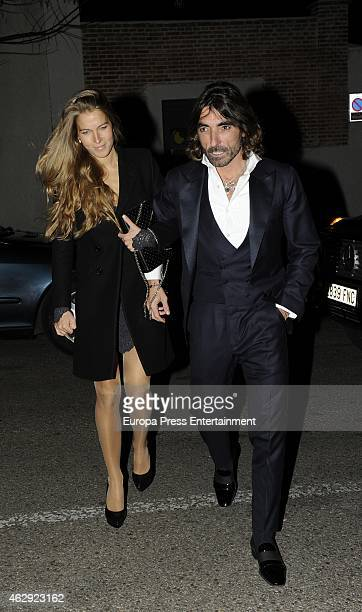 Javier Hidalgo and Sol Gonzalez attend Giancarlo Giammetti birthday party on February 6 2015 in Madrid Spain