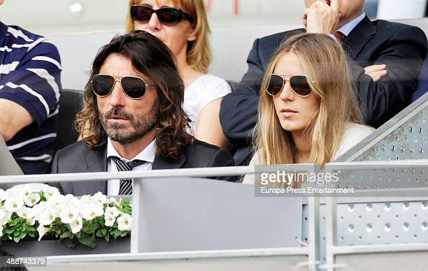 Javier Hidalgo and Sol Gonzalez attend Mutua Madrid Open at La Caja Magica on May 7 2014 in Madrid Spain