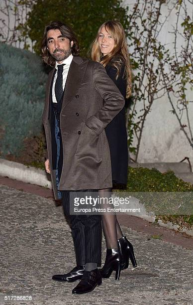 Javier Hidalgo and Sol Gonzalez attend the wedding of Princess Pilar's son Beltran Gomez Acebo and Andrea Pascual on February 27 2016 in Madrid Spain