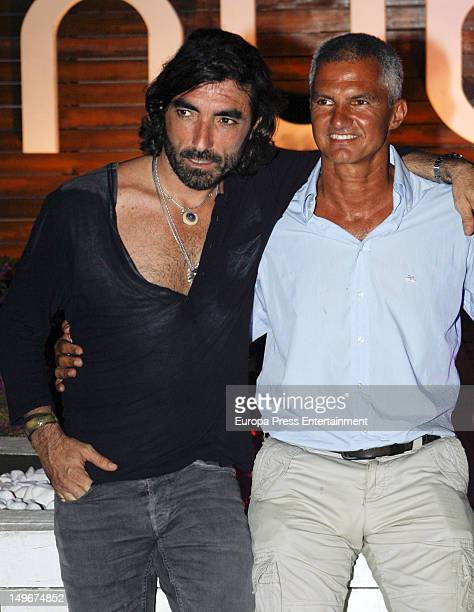 Javier Hidalgo attends a summer party at Nuba Club on August 1 2012 in Ibiza Spain