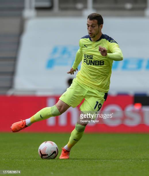 Javier Manquillo of Newcastle United FC during the Pre Season Friendly between Newcastle United and Stoke City at St James' Park on September 05 2020...