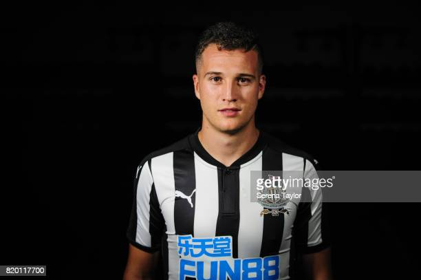Javier Manquillo poses for photographs during a Photo call at Carton House on July 20 in Maynooth Ireland