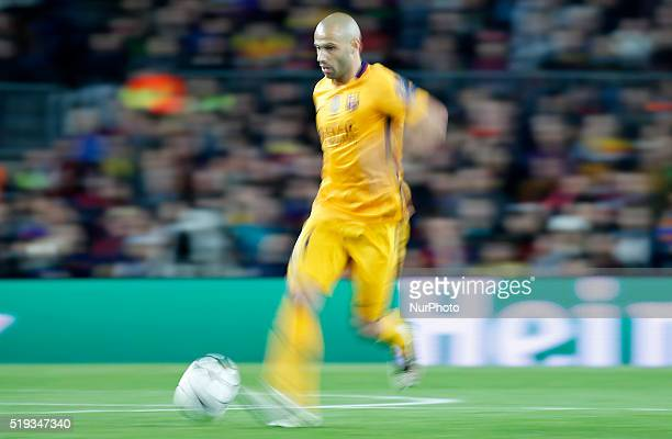 Javier Mascherano during the match between FC Barcelona and Atletico de Madrid corrresponding to the first leg of the 1/4 final of the UEFA Champions...