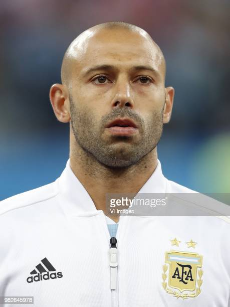 Javier Mascherano of Argentina during the 2018 FIFA World Cup Russia group D match between Argentina and Croatia at the Novgorod stadium on June 21...