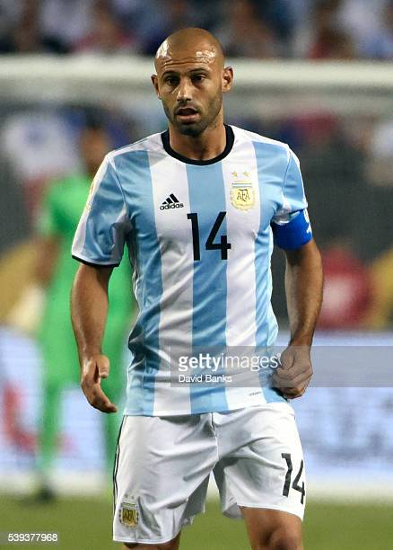 Javier Mascherano of Argentina looks on during a group D match between Argentina and Panama at Soldier Field as part of Copa America Centenario US...