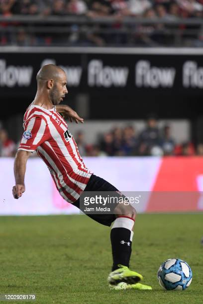 Javier Mascherano of Estudiantes in action during a match between Estudiantes and River Plate as part of Superliga 2019/20 at Estadio Jorge Luis...