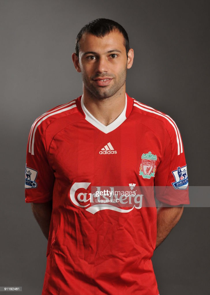 Javier Mascherano of Liverpool FC poses during a Liverpool FC 2009/2010 season photocall in Liverpool, England.