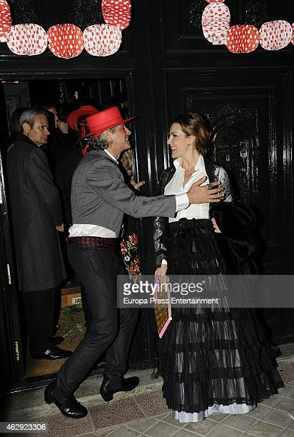 Javier Merino Bruce Hoeksema and Mar Flores attend Giancarlo Giammetti birthday party on February 6 2015 in Madrid Spain
