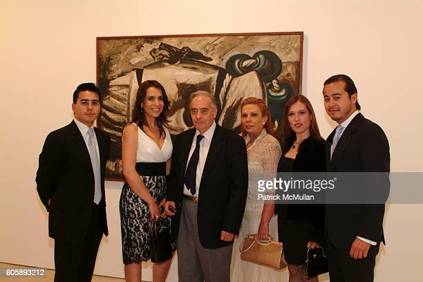Javier Mikio Tamura Ana Ornelas Clemente Orozco Ana Maria Vasquez and Jorge Tamura attend Opening of an Exhibition of works by JOSE CLEMENTE OROZCO...