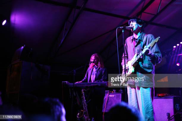 Javier Morales and Bradford Cox of Deerhunter perform onstage at The Onion AV Club Event during the 2019 SXSW Conference and Festivals at Mohawk...