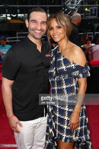 """Javier Muñoz and Halle Berry attend U.S. Premiere Of """"5B"""", A Film Presented By RYOT, A Verizon Media Company, At Opening Night Of LA Pride at the..."""