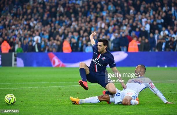 Javier PASTORE / Alaixys ROMAO Marseille / Paris Saint Germain 31eme journee de Ligue 1 Photo Dave Winter / Icon Sport