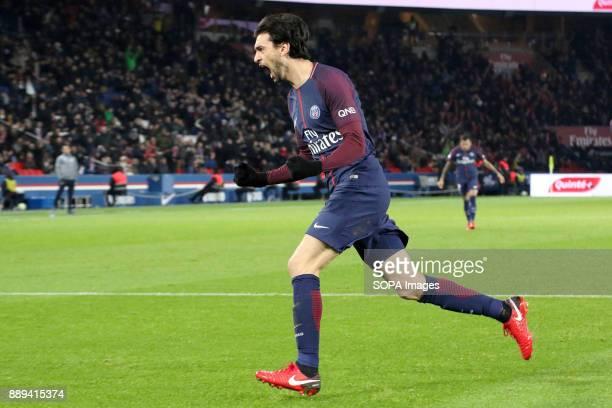 Javier Pastore during the French Ligue 1 soccer match between Paris Saint Germain and Lille at Parc des Princes