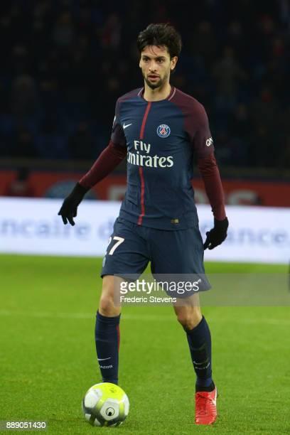 Javier Pastore midfielder of Paris SaintGermain team during the Ligue 1 match between Paris Saint Germain and Lille OSC at Parc des Princes on...