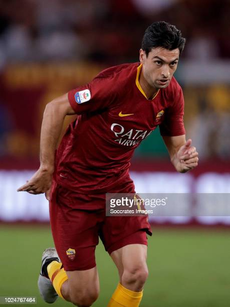 Javier Pastore of AS Roma during the Italian Serie A match between AS Roma v Atalanta Bergamo at the Stadio Olimpico Rome on August 27 2018 in Rome...