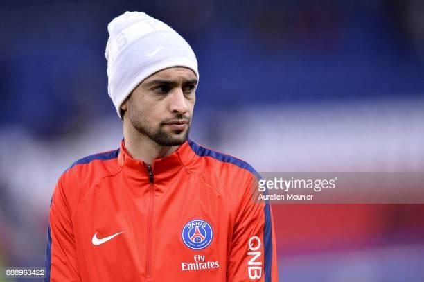 Javier Pastore of Paris SaintGermain reacts during warmup before the Ligue 1 match between Paris Saint Germain and Lille OSC at Parc des Princes on...