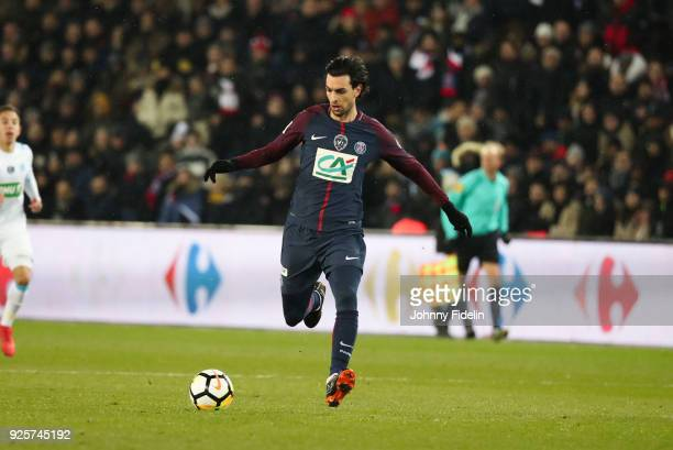 Javier Pastore of PSG during the French Cup match between Paris Saint Germain and Marseille at Parc des Princes on February 28 2018 in Paris France