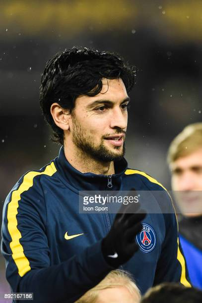 Javier Pastore of PSG during the french League Cup match Round of 16 between Strasbourg and Paris Saint Germain on December 13 2017 in Strasbourg...