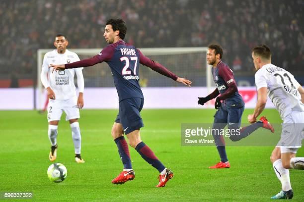Javier Pastore of PSG during the Ligue 1 match between Paris Saint Germain and SM Caen at Parc des Princes on December 20 2017 in Paris France
