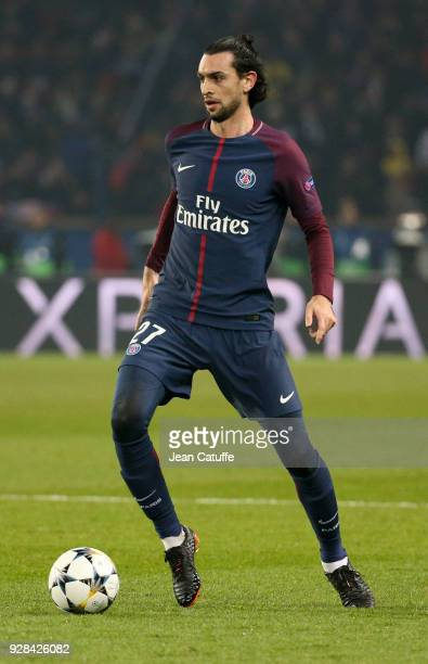 Javier Pastore of PSG during the UEFA Champions League Round of 16 Second Leg match between Paris SaintGermain and Real Madrid at Parc des Princes...