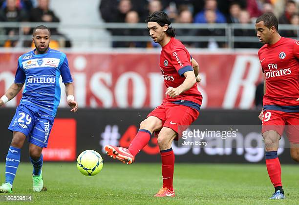 Javier Pastore of PSG in action during the Ligue 1 match between ES Troyes Aube Champagne ESTAC and Paris SaintGermain FC PSG at the Stade de l'Aube...