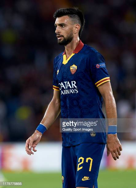 Javier Pastore of Roma looks on during the UEFA Europa League group J match between AS Roma and Istanbul Basaksehir FK at Stadio Olimpico on...