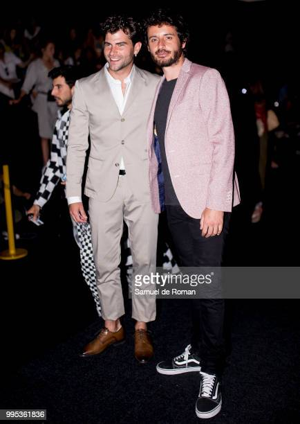 Javier Pereira attends the front row of Garcia Madrid show during Mercedes Benz Fashion Week Madrid on July 10 2018 in Madrid Spain