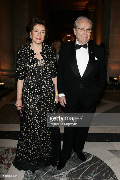 Javier Perez De Cuellard and his wife attend the Child Abuse Foundation Gala at the Castle of Versailles on December 6 2004 in Versailles France