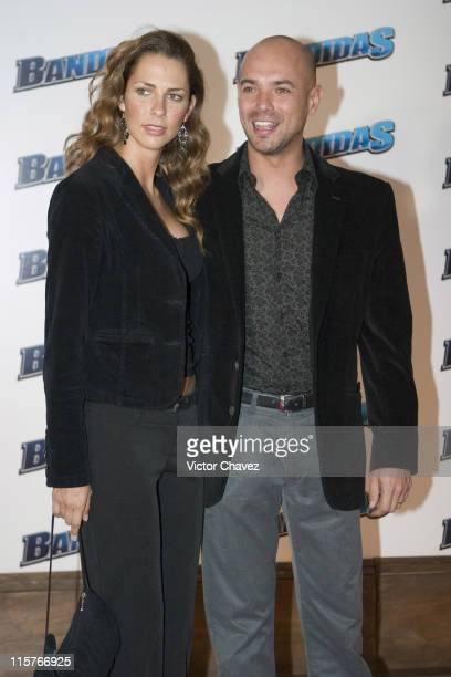 Javier Poza and wife Valeria Liberman during Bandidas Mexico City Premiere at Gran Hotel de la Ciudad de Mexico in Mexico City Mexico