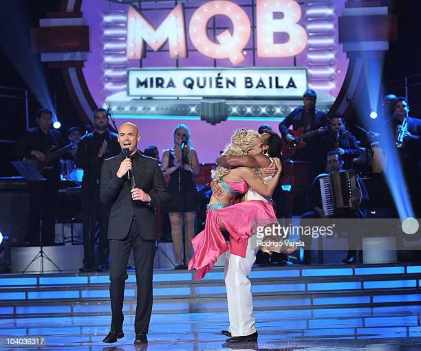 Javier Poza Niurka Marcos and John Secada perform at 'Mira Quien Baila' premiere show on September 12 2010 in Miami Florida