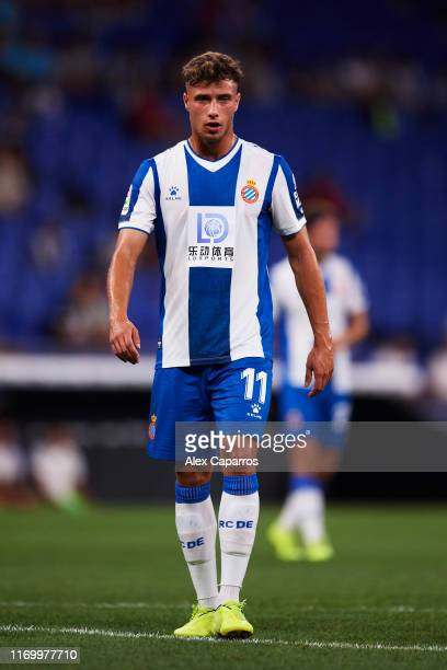Javier Puado of RCD Espanyol looks on during the UEFA Europa League Play Off match between Espanyol and Zoryan Luhansk at RCDE Stadium on August 22...