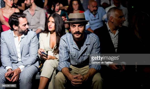 Javier Rey attends the front row of Garcia Madrid show during Mercedes Benz Fashion Week Madrid on July 10 2018 in Madrid Spain