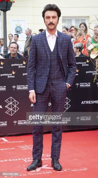 Javier Rey during the 21th Malaga Film Festival closing ceremony at the Cervantes Teather on April 21 2018 in Malaga Spain