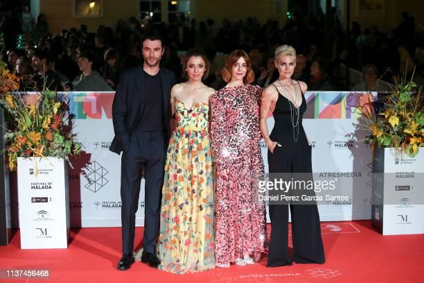 Javier Rey Leticia Dolera Ines de Leon and Amaia Salamanca attend '¿Que Te Juegas' premiere at the Cervantes Theater during the 22nd Malaga Film...