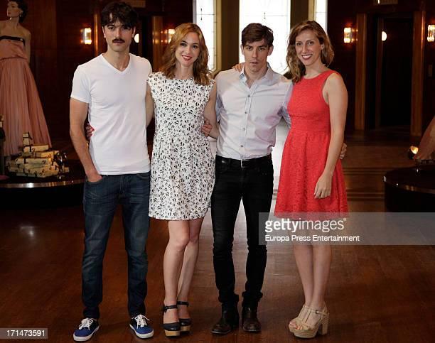 Javier Rey Marta Hazas Adrian Lastra and Cecilia Freire are seen on set filming 'Galerias Velvet' on June 24 2013 in Madrid Spain