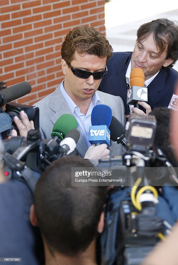 Javier Rigau on June 4, 2008 leving court in Madrid, Spain. Italian actress Gina Lollobrigida, 85 has claimed that 51-year-old, Javier Rigau used a stand-in to marry her without her knowledge in a bid to ensure a share of her £35 million fortune.